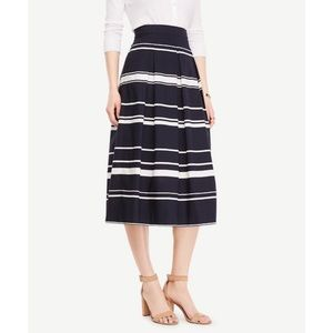 Ann Taylor navy striped skirt